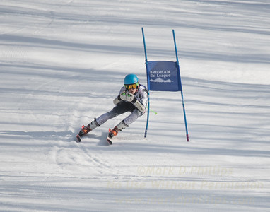 Zach Mooney of Suffield Academy races at Sudown Ski area on Wednesday, February 8, 2017, for the Brigham Ski League GS Championships.