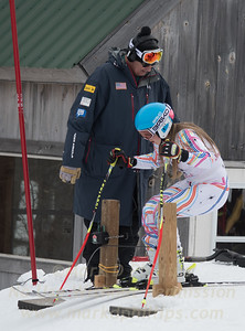 Liza Phillips at U19 GS race at Jiminy Peak on Sunday, February 5, 2017.