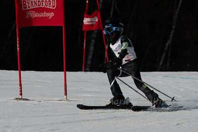 Racing in the Interclub race at Blandford Ski Area of February 10, 2019