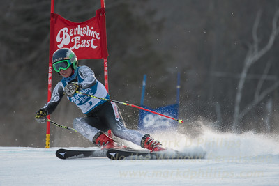 Alexis Roberts at the Siebert Cup GS race at Berkshire East on January 27, 2018.