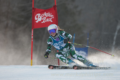MacKenzie Hatch at the Siebert Cup GS race at Berkshire East on January 27, 2018.
