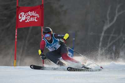 Michelle Frasch at the Siebert Cup GS race at Berkshire East on January 27, 2018.