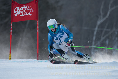 Grace O'Connor at the Siebert Cup GS race at Berkshire East on January 27, 2018.