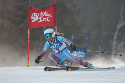 Gemma Borra Paley at the Siebert Cup GS race at Berkshire East on January 27, 2018.