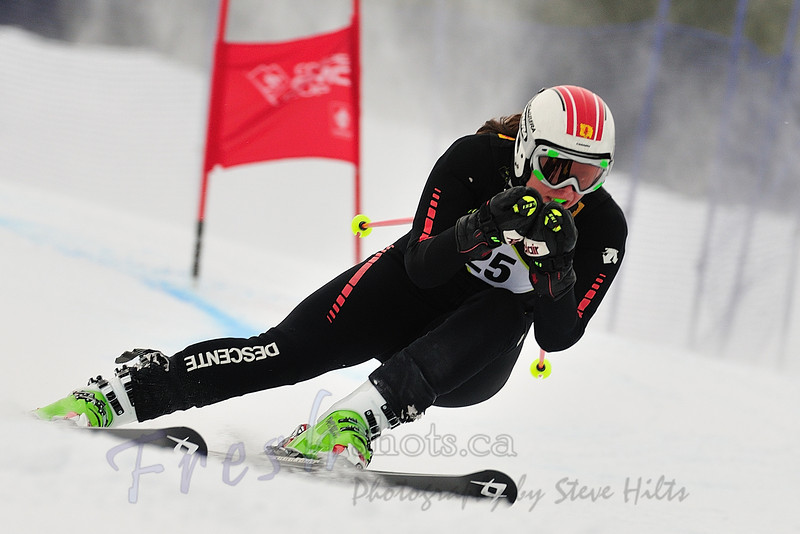 Amanda Smith, <br /> Winner, J1 Women's<br /> Coupe GMC Cup giant slalom<br /> Feb 26 2011, Red Mountain, Rossland
