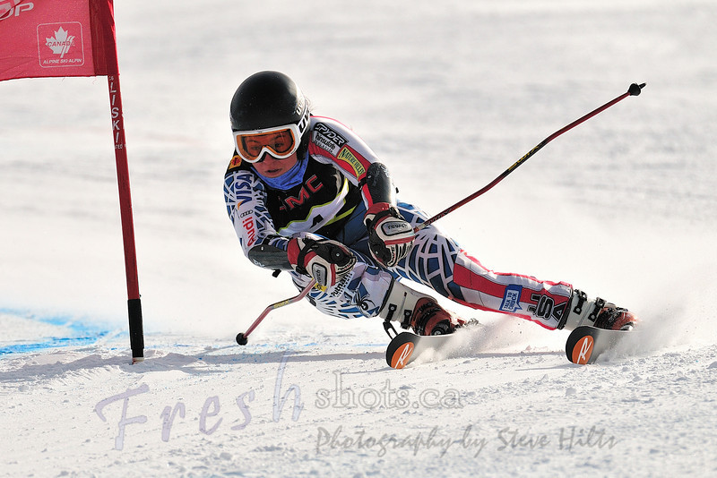 Vanessa Berther, USA<br /> Winner, women's overall<br /> Coupe GMC Cup giant slalom<br /> Feb 26 2011, Red Mountain, Rossland