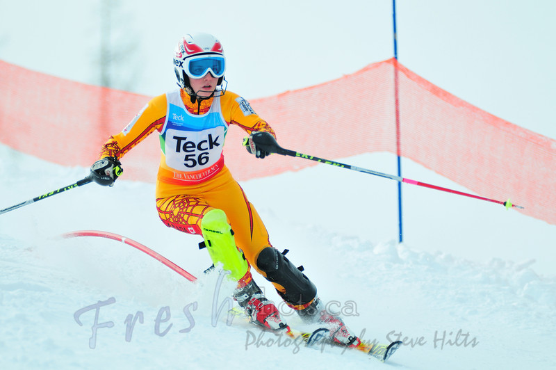 Stephanie Gartner, FAST, winning another K2 F SL PHOTO CREDIT: Steve Hilts freshshots.ca