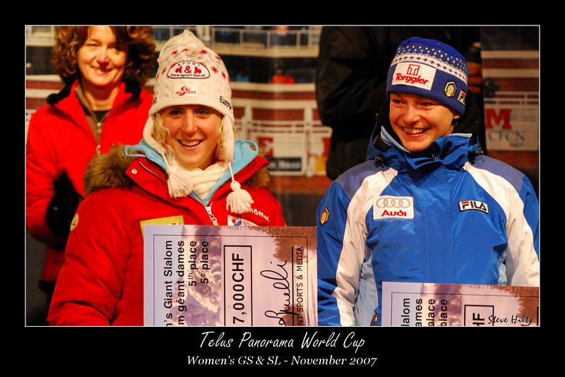 Eva Maria Brem (AUT), 5th in GS<br /> Nicole Gius (ITA), 6th in GS