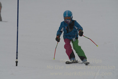 Blandford Ski Area Little Fry Club Race for ten-year-old and under (plus a few older kids for fun) on January 7, 2017
