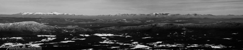 The view on Thursday, 12/30/2010 was spectacular. Mt. Washington & the White Mountains rose on the horizon with a tempting white frosting.