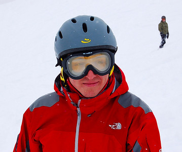 The goggle fog looks cool, but Matt assures us it does not improve performance.