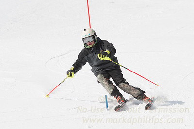 No Commercial Use / Personal Use Only  / Colin Freeman foreruns at U12 Championship Day 1 Slalom on March 3, 2017