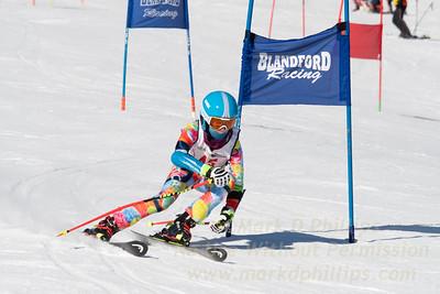 Racing in the U16 / U19 Panel Slalom race at Blandford Ski Area on February 17, 2019