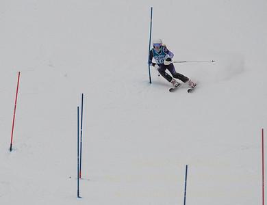 Micaela Bartlett races at Berkshire East in the U19 Slalom Schaefer Cup