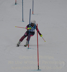 Anguelina Borissenko races at Berkshire East in the U19 Slalom Schaefer Cup