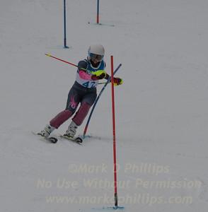 Anguelina Borissenko races at Berkshire East in the U19 Slalom Schaefer Cup