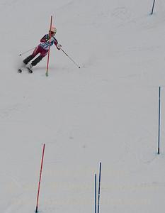 Kathryn Phair races at Berkshire East in the U19 Slalom Schaefer Cup