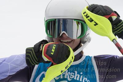 Jacqueline Koziel races at Berkshire East in the U19 Slalom Schaefer Cup