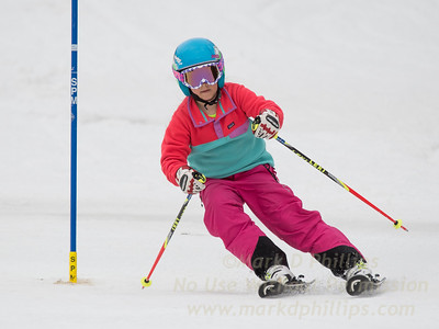 Brianna Ottoson foreruns at U19 race at Blandford Ski Area on February 25, 2017