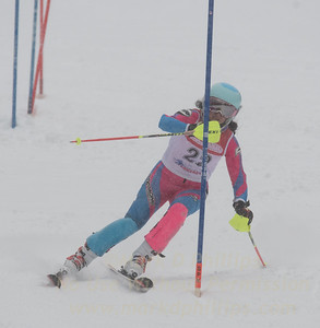 Elise Namnoum races during U19 Slalom Race at Bousquet Ski Area on Sunday, February 12, 2017