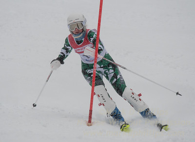 Eva Clough races in U19 Slalom Race at Bousquet Ski Area on Sunday, February 12, 2017