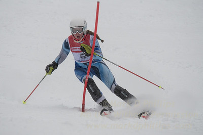 Shannon Duffy races during U19 Slalom Race at Bousquet Ski Area on Sunday, February 12, 2017