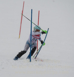 Shayna Aronson races during U19 Slalom Race at Bousquet Ski Area on Sunday, February 12, 2017