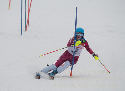 Sydney Murners races during U19 Slalom Race at Bousquet Ski Area on Sunday, February 12, 2017
