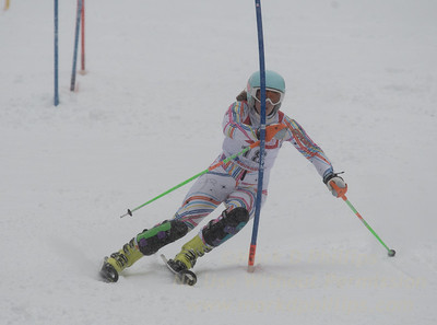 Jacquelyn Chase races during U19 Slalom Race at Bousquet Ski Area on Sunday, February 12, 2017