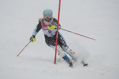 Isabelle Chandler races during U19 Slalom Race at Bousquet Ski Area on Sunday, February 12, 2017