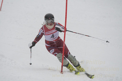 Margrete Skaugin races during U19 Slalom Race at Bousquet Ski Area on Sunday, February 12, 2017