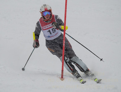 Michelle Frasch races in U19 Slalom Race at Bousquet Ski Area on Sunday, February 12, 2017