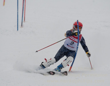 Heidi Leeds races during U19 Slalom Race at Bousquet Ski Area on Sunday, February 12, 2017