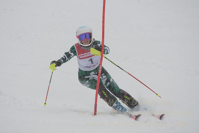 Mackenzie Hatch races during U19 Slalom Race at Bousquet Ski Area on Sunday, February 12, 2017