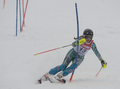 Eleanor Lundberg races in U19 Slalom Race at Bousquet Ski Area on Sunday, February 12, 2017