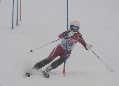 Kathryn Phair races during U19 Slalom Race at Bousquet Ski Area on Sunday, February 12, 2017