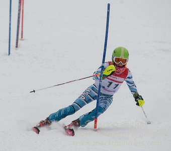 Ella King races during U19 Slalom Race at Bousquet Ski Area on Sunday, February 12, 2017