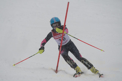 Keegan O`Connor races in U19 Slalom Race at Bousquet Ski Area on Sunday, February 12, 2017