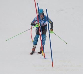 Zachary Mooney at U19 Slalom at Sundown Ski Area on Sunday, January 22, 2017