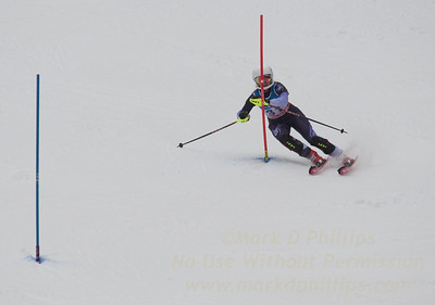Jackie Koziel races at U19 Slalom at Sundown Ski Area on Sunday, January 22, 2017