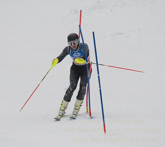 Nik Ottoson at U19 Slalom at Sundown Ski Area on Sunday, January 22, 2017