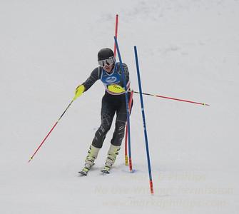 Nik Ottoson at U19 Slalom at Sundown Ski Area on Sunday, January 22, 2017