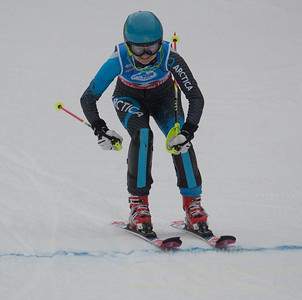 Addison Wakelin races at U19 Slalom at Sundown Ski Area on Sunday, January 22, 2017
