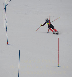 Anguelina Borissenko races at U19 Slalom at Sundown Ski Area on Sunday, January 22, 2017