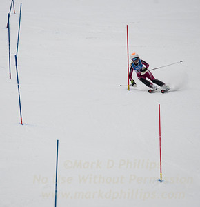 Kathryn Phair races during U19 Slalom at Sundown Ski Area on Sunday, January 22, 2017
