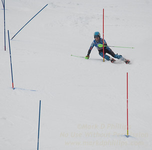 Zachary Mooney at U19 Slalom at Sundown Ski Area on Sunday, January 22, 2017