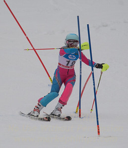 Elise Namnoum races at U19 Slalom at Sundown Ski Area on Sunday, January 22, 2017