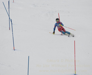 Cameron Ottoson at U19 Slalom at Sundown Ski Area on Sunday, January 22, 2017