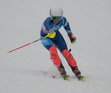 Nate Bonini at U19 Slalom at Sundown Ski Area on Sunday, January 22, 2017