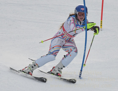 Liza Phillips at the U21 slalom race at Ski Sundown on January 21, 2018. She can you talk now? 4 seconds off her second run!